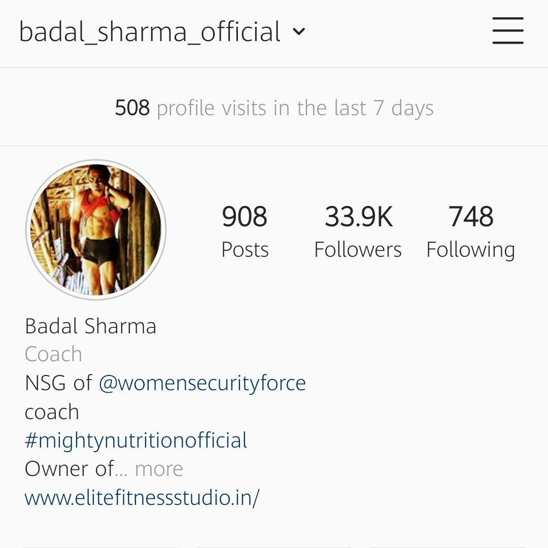Fitnessguru Badal Sharma